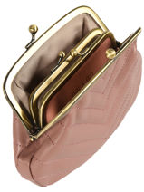 Purse Leather Nat et nin Pink vintage AVA-vue-porte