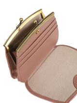 Purse Leather Nat et nin Pink vintage HOPERAY-vue-porte