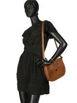 Shoulder Bag Vintage Nat et nin Brown vintage MICHELLE-vue-porte
