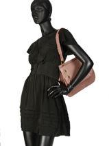 Shoulder Bag Vittoria Leather Nat et nin Pink vintage VITTORIA-vue-porte