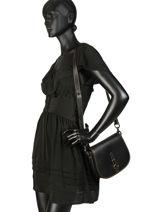 Medium Leather Saddle Bag  Coach Black saddle bag 54202-vue-porte