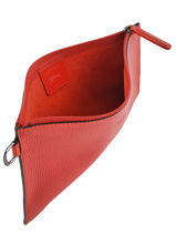 Longchamp Roseau essential Clutches Red-vue-porte