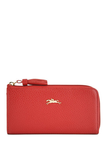 Longchamp Pénélope Portefeuilles Rouge