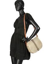 Crossbody Bag Authentic Torrow Beige authentic X6616-vue-porte