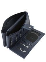Purse Leather Etrier Blue blanco 600907-vue-porte