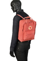Backpack Kånken 1 Compartment Fjallraven Pink kanken 23510-vue-porte