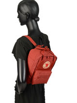 Backpack Kånken 1 Compartment Fjallraven Red kanken 23561-vue-porte