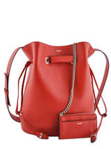 Shoulder Bag L Le Huit Leather Lancel Red le huit A07110