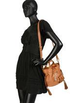 Small Tote Bag Premier Flirt Lancel Brown premier flirt A10109-vue-porte