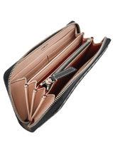Leather Wallet Premier Flirt Lancel Brown premier flirt A10111-vue-porte