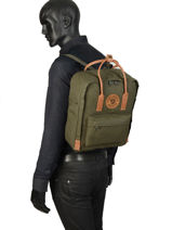 Backpack Kånken 1 Compartment Fjallraven Black kanken n°2 23565-vue-porte