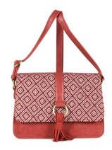 Shoulder Bag Camelia Woomen Red camelia WCAME04