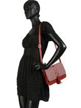 Shoulder Bag Camelia Woomen Red camelia WCAME04-vue-porte