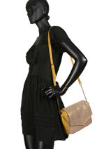 Shoulder Bag Selva Leather Pieces Yellow selva 17095899-vue-porte