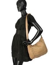 Shoulder Bag Studs Leather Basilic pepper Yellow studs BSTU02-vue-porte