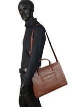 Briefcase Hexagona Brown confort 462698-vue-porte