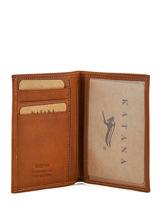 Wallet Leather Katana Brown tampon 253090-vue-porte