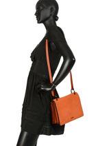 Shoulder Bag Jockey Etrier Orange jockey EJOC01-vue-porte