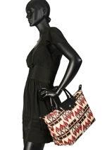 Longchamp Le pliage ikat Handbag Beige-vue-porte