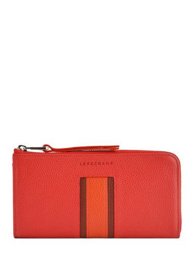 Longchamp Le foulonnÉ tricolore Portefeuilles Rouge