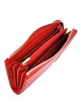 Longchamp Le foulonnÉ tricolore Portefeuilles Rouge-vue-porte