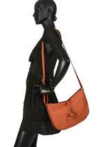 Crossbody Bag Tradition Leather Etrier Orange tradition EHER2A-vue-porte