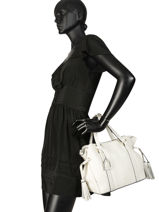 Leather Tradition Satchel Etrier White tradition EHER24-vue-porte