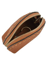 Purse Leather Etrier Brown tradition EHER92-vue-porte