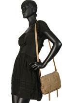 Sac Bandoulière Vintage Cuir Mila louise Beige vintage 3017S-vue-porte