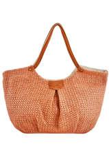 Sac Shopping Pearline Paille Mila louise Orange paille 23684P2