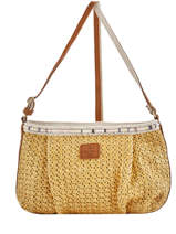 Shoulder Bag Paille Mila louise Yellow paille 23685P2