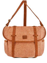 Crossbody Bag Paille Mila louise Orange paille 23687P2
