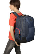 Backpack 2 Compartments With Free Wallet Quiksilver Black youth access QYBP349B-vue-porte