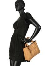 Longchamp Handbag Beige-vue-porte