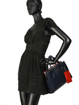 Top Handle Charming Tommy Tommy hilfiger Black charming tommy AW06487-vue-porte
