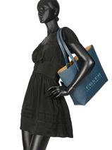Highline Leather Tote Bag Coach Blue highline 55199-vue-porte