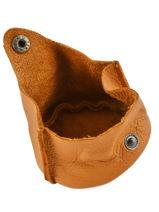 Purse Leather Paul marius Yellow vintage ESCARCEL-vue-porte