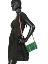 Leather Crossbody Bag Mini Indispensable Paul marius Green vintage MINI-vue-porte