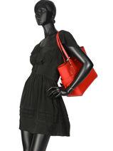 Large Leather Tote Bag Voyager Michael kors Red voyager H7GV6T9L-vue-porte