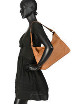 Shoulder Bag Rachel Leather Nathan baume Brown victoria N1910513-vue-porte