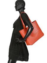 Longchamp Shop-it Besaces Orange-vue-porte