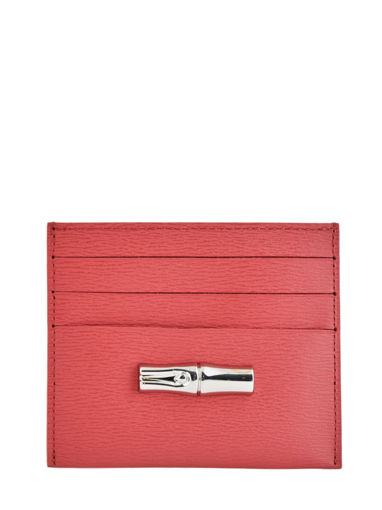 Longchamp Roseau Porte billets/cartes Rose
