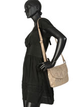 Shoulder Bag Beth Leather Pieces Gold beth 17093722-vue-porte