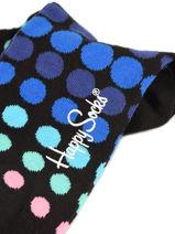 Chaussettes Happy socks Noir faded disco FDD01-vue-porte