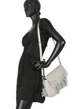 Crossbody Bag Irise Lulu castagnette Gray irise KENSEN-vue-porte