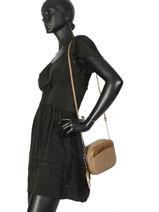Shoulder Bag Bimatiere Lulu castagnette Brown bimatiere KLARYS-vue-porte