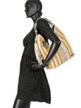 Shoulder Bag Biscarosse Les tropeziennes Yellow biscarosse BIS01-vue-porte