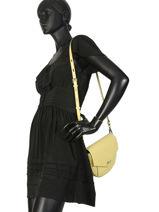 Shoulder Bag K Karry All Leather Karl lagerfeld Yellow k karry all 91KW3024-vue-porte
