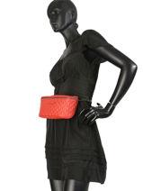 Longchamp Amazone matelassÉ Pouch bag Red-vue-porte