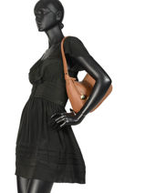 Caviar Leather Hobo Bag Crinkles Brown 80667-vue-porte